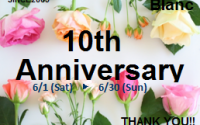【イオンモール出雲店】Blanc10周年宝くじ☆今月末まで