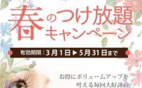 春のつけ放題キャンペーン☆