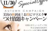 ≪ 今月まで !!≫ 秋のつけ放題キャンペーン★